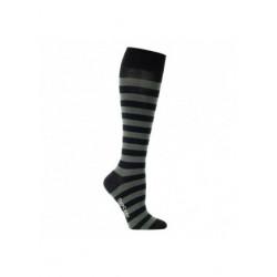 Chaussettes de contention coton fantaisie noire