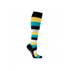 Chaussettes de contention coton - fantaisie motif rayures