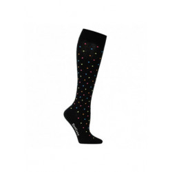 Chaussettes de contention coton- fantaisie motif confetties