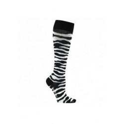 Chaussettes de contention coton zébré