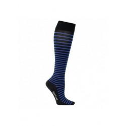 Chaussettes de contention coton- fines rayures bleus