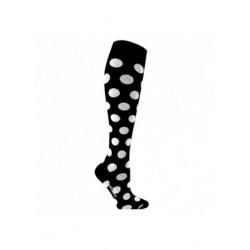 Lot 2 paires chaussettes de contention coton - fantaisie pois