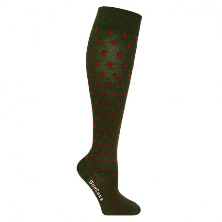 Chaussettes de contention bambou - fantaisie motif petits pois
