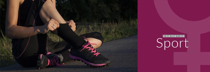 Chaussettes - manchons compression sportive femme