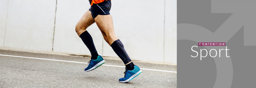 Chaussettes - manchons compression sportive homme