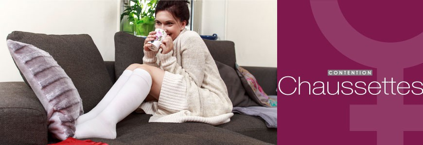 Chaussettes de contention femme